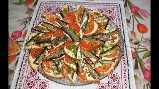Бутерброды со шпротами | Холодная закуска | Бутерброди зі шпротами |Закусочные бутерброды