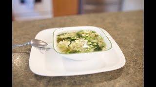 Зеленый борщ со щавелем и шпинатом | Украинская кухня | Первые блюда