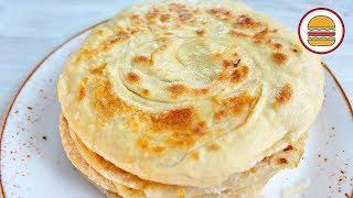 Вкуснейшая КАТЛАМА с луком. Узбекские слоеные лепешки на сковороде.