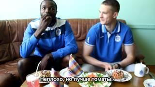 """Кики и Сигитас пробуют блюда белорусской кухни для """"Днепр-ТВ"""""""