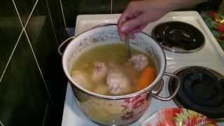 Куриный бульон с яйцом! Простой вкусный рецепт на УРА!