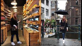 Vlog Amsterdam * цветочный рынок, кафешки, магазины *