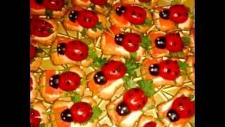Бутерброды с помидорами черри и оливками