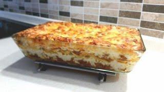 Лазанья. Итальянская кухня.