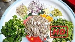 Как Делать Рыба-Призыв И Креветки (Салат Из Рыбы И Креветок В Камбодже). Приготовление Пищи Камбодж