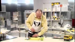 Салат из свежих овощей (огурца, сладкого перца и салата) рецепт от шеф-повара / Илья Лазерсон