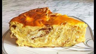 Ленивая Баница /  Пирог из Лаваша с Творогом и Брынзой / Pie with Cheese / Болгарская Кухня