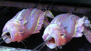 Япония Морепродукты - Приготовление Нескольких Блюд из Рыбы Японским Шеф-Поваром