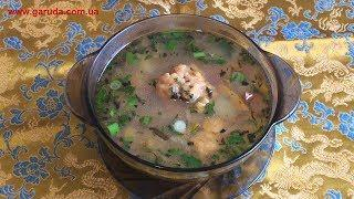 """Суп с галушками """"Розовый поросёнок"""" - украинская кухня."""