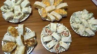 Топ 5 начинок для закуски из лаваша /Закуски к праздничному столу