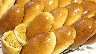 ДРОЖЖЕВОЕ ТЕСТО НА КЕФИРЕ для пирожков с любой начинкой.Пирожки с капустой/Yeast Dough on Kefir