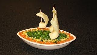 Рыбный салат. Салат простой и вкусный. Мясной салат.