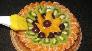 Торт с фруктами. Простой торт.