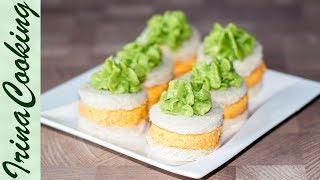 БУТЕРБРОДЫ НА ПРАЗДНИЧНЫЙ СТОЛ с авокадо и крабовой пастой   Avocado & Crab Paste Snack