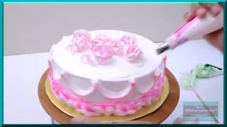 Украшение тортов белково-заварным кремом. Оформление тортов