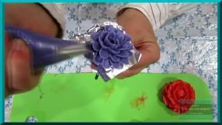 Изготовление цветов из масляного крема (видеоурок). Украшение тортов кремом в домашних условиях
