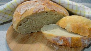 Домашний хлеб без замеса  очень простой рецепт
