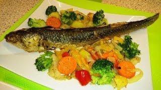 Пеленгас запеченый с овощами ПП салат