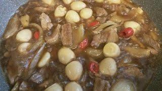 (корейская кухня )как приготовить панчан (메추리알 장조림) видео рецепт how to cook Banchan