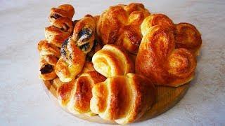 ЛУЧШИЕ плюшки с сахаром КРАСИВЫЕ формы булочек из дрожжевого теста