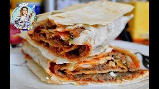 Ламаджо из лаваша. Армянская кухня. Лепёшка с фаршем без возни с тестом.
