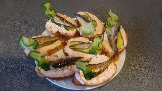 Съедаются вмиг!!! Бутерброды с рыбой и икрой на праздничный стол. Закуска из шпрот на скорую руку