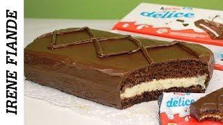 Гигантский Киндер Делис.Шоколадный бисквитный торт-пирожное. Kinder delis