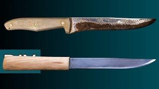 Как сделать Макири из старого кухонного ножа. Реставрация, заточка и травление. #Стройхак