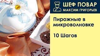Пирожные в микроволновке . Рецепт от шеф повара Максима Григорьева