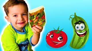 Быстрый детский завтрак. Бутерброды на скорую руку. Готовим вместе.