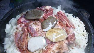 Любимое блюдо Чингисхана. Готовим Баранину