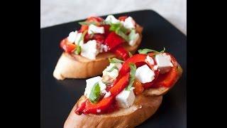 брускета, видео рецепты, вкусные рецепты видео, закуски, итальянская кухня рецепты,.mp4