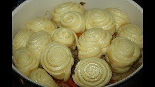 Простой  рецепт приготовления Штрудели с Картошкой и Мясом