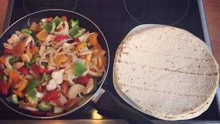 кесадилья с курицей  ( очень вкусный, сытный рецепт мексиканской кухни)