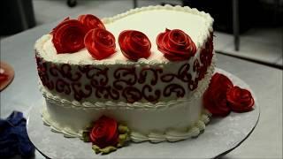 Украшение тортов | Как украсить торт в форме сердца пошагово❤