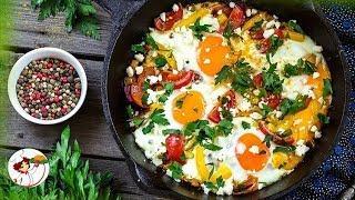 Завтрак по-крестьянски. Вкусное блюдо украинской кухни.