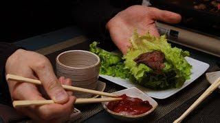 Корейская кухня.  Пулькоги - мясо по корейски.