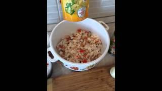 Бюджетный постный салат из морепродуктов с морской капустой и фасолью