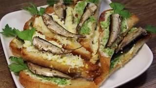 Любите шпроты, но обычные бутерброды уже всем надоели? Тогда приготовьте вот такие греночки!