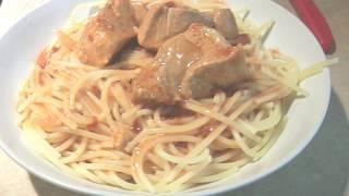 Обед на скорую руку и рецепт тушёной свинины