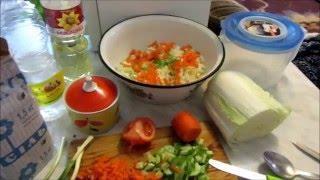Овощи. Салат из пекинской капусты с другими овощами