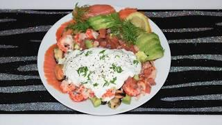Закуска Из рыбы,  Морепродуктов и Авокадо!! ВКУСНО