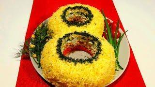 """Салат """" 8 МАРТА """"  Потрясающе Вкусный Праздничный Салат !"""