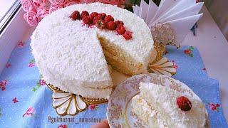 Торт Рафаэлло. Рафаэлло торты. Казакша рецепт