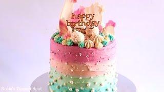 Красивое оформление торта на день рождения