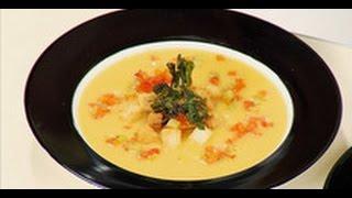 Сырный суп (cуп-пюре) / рецепт от шеф-повара /  Илья Лазерсон / Обед безбрачия / французская кухня