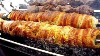 Рецепт чешских булочек трдло на мангале + шашлык