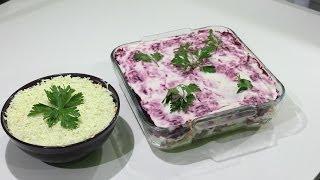 Новогодние салаты - селёдка под шубой и мимоза