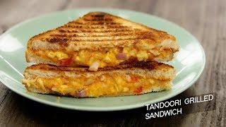 Tandoori Grilled Sandwich - cafe style veg grill cheese recipe CookingShooking