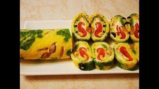 ЗАКУСОЧНЫЙ рулет НОВОГОДНИЙ закуска рецепт Новогодняя закуска Закуски на праздничный стол